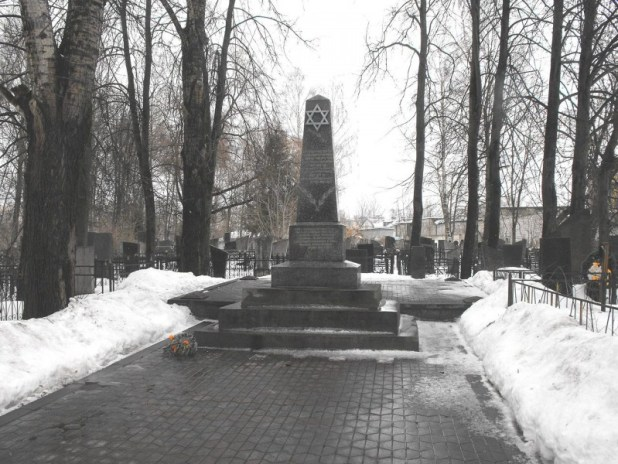 Monument to the murdered prisoners of the Mogilev ghetto at Mashekovsky Jewish cemetery צילום: Vadim Akopyan