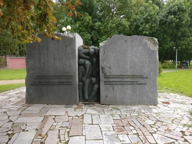 The monument to victims of Minsk ghetto at Pritytskogo street, Minsk, Belarus צילום:Vadim Sazanovich
