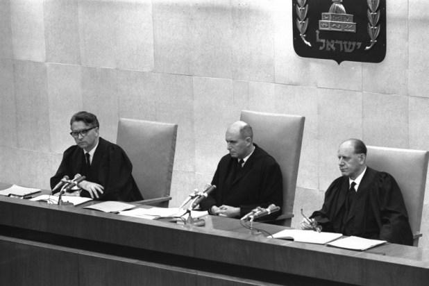 שופטיו של אייכמן: יצחק רווה, משה לנדוי, בנימין הלוי