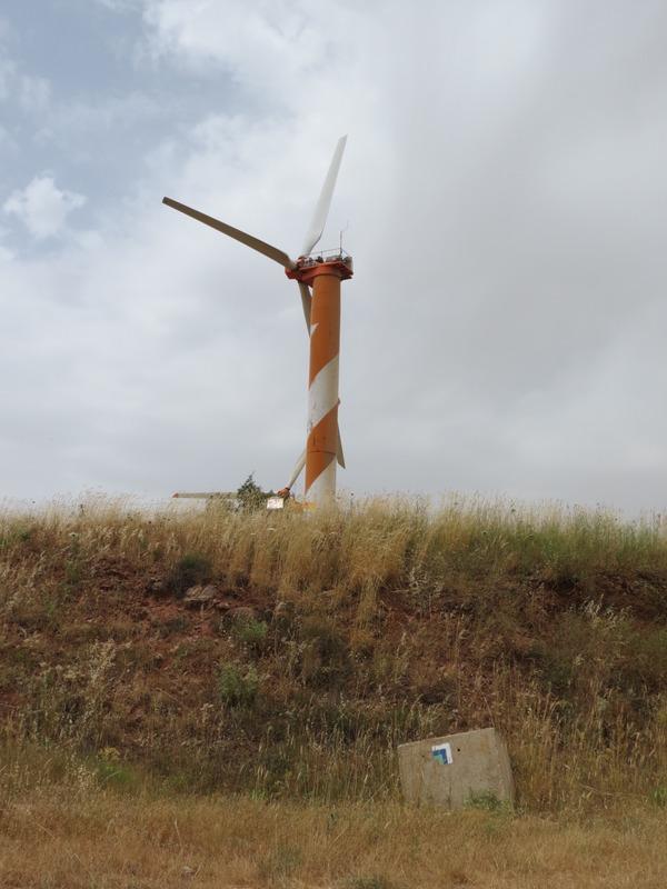 תחנת רוח ברכס בשנית - הר בני ע׳סאן