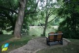 A quiet, peaceful spot on the grounds of Hospice of Dayton