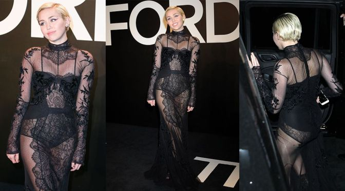 "Miley Cyrus – ""Tom Ford"" Fashion Show in Los ANgeles"