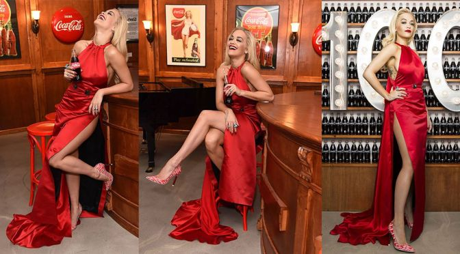 Rita Ora – Coca Cola Contour Centenary Bar in London