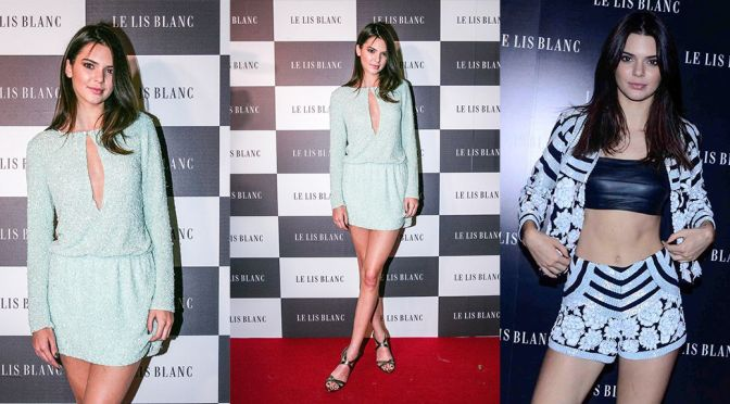 Kendall Jenner – Le Lis Blanc Cocktail Party in Sao Paulo