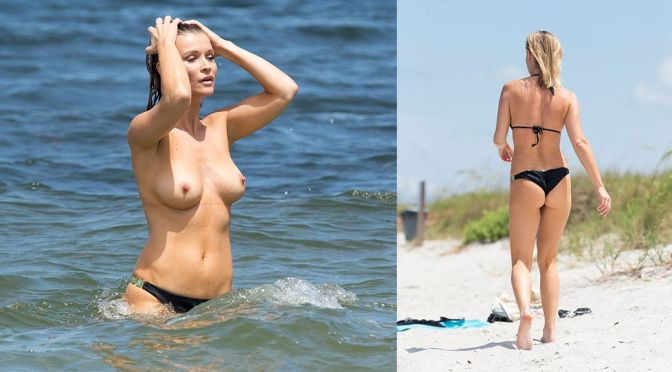 Joanna Krupa – Topless Candids in Miami