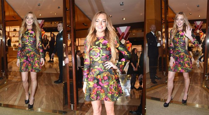 Lindsay Lohan – Louis Vuitton Summer Party in London