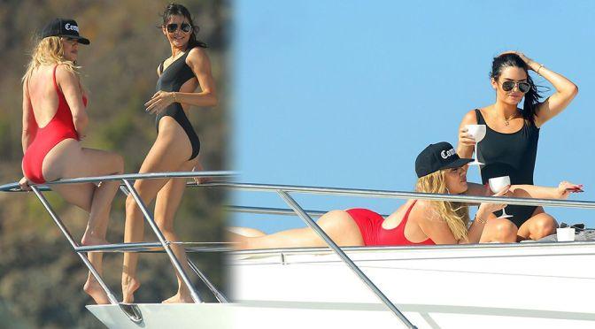 Khloe Kardashian & Kendall Jenner – Swimsuit Candids in St Barts