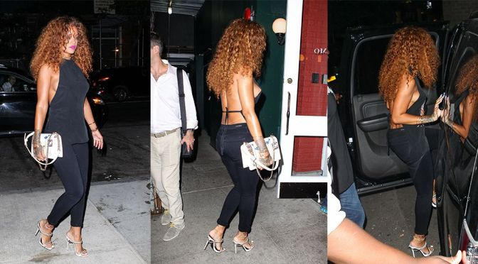 Rihanna – Nipslip Candids in New York