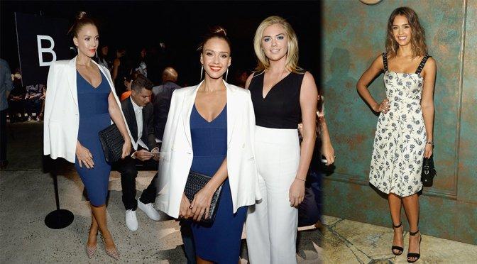 Jessica Alba – Narciso Rodriguez Fashion Show in New York