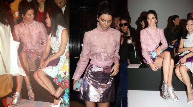 Kendall Jenner – Shiatzy Chen Fashion Show in Paris