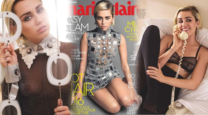 Miley Cyrus – Marie Claire UK Magazine (January 2016)