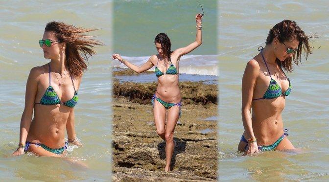 Alessandra Ambrosio – Bikini Candids in Brazil