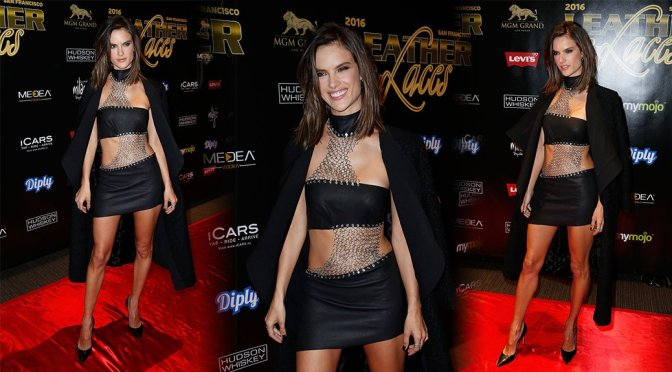 """Alessandra Ambrosio – 13th Annual """"Leather & Laces"""" Party in San Francisco"""