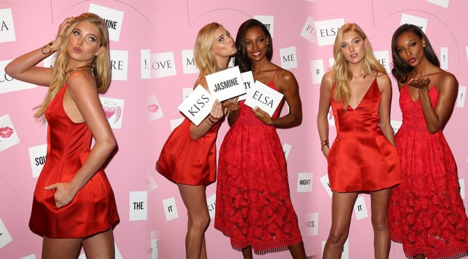 Elsa Hosk & Jasmine Tookes – Victoria's Secret Event in New York