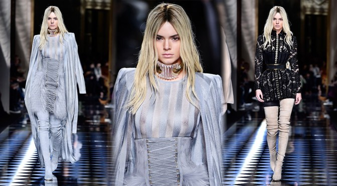 Kendall Jenner – Balmani Fashion Show in Paris