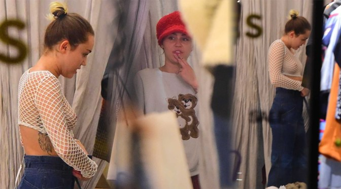 Miley Cyrus – Braless See-Through Candids in New York