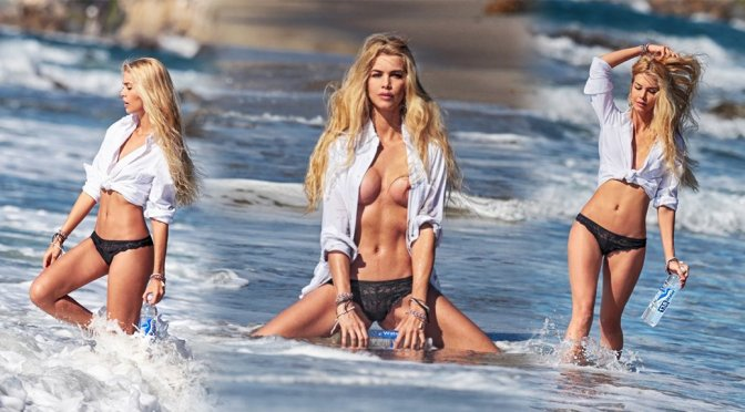 Kat Torres – 138 Water Topless Photoshoot in Malibu (NSFW)