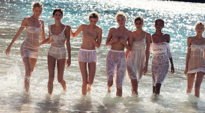 Victoria's Secret Angels  Topless in Vogue Spain Magazine (May 2016)