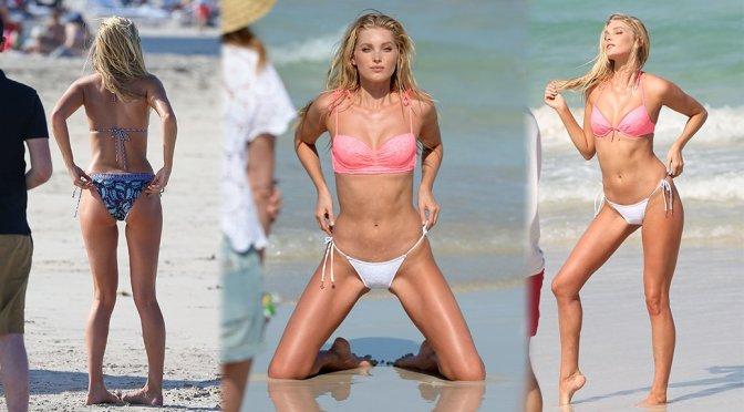 Elsa Hosk – Victoria's Secret Bikini Photoshoot Candids in Miami