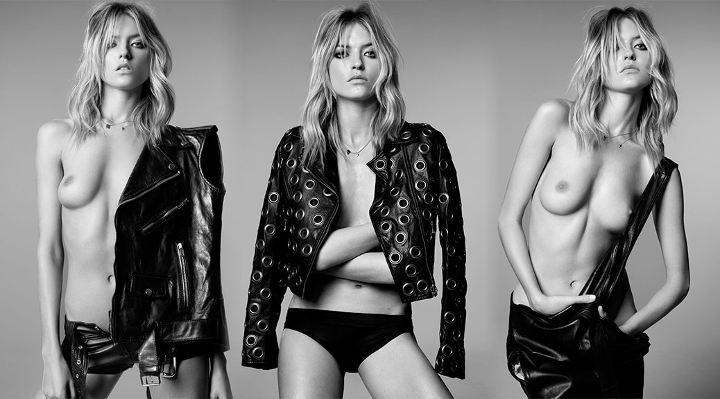 Martha Hunt - Topless Photoshoot by Adam Franzino