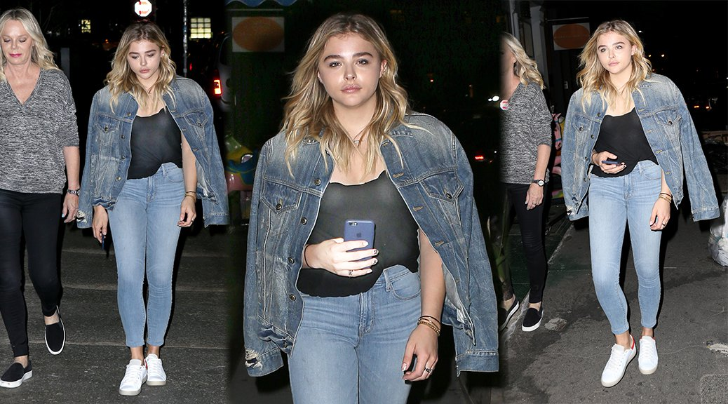 Chloe Grace Moretz - Braless See-Through Candids in New York