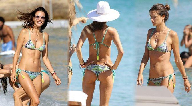 Alessandra Ambrosio – Bikini Candids in Mykonos