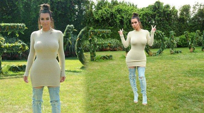 Kim Kardashian – Revolve Clothing Hampton House Summer Party