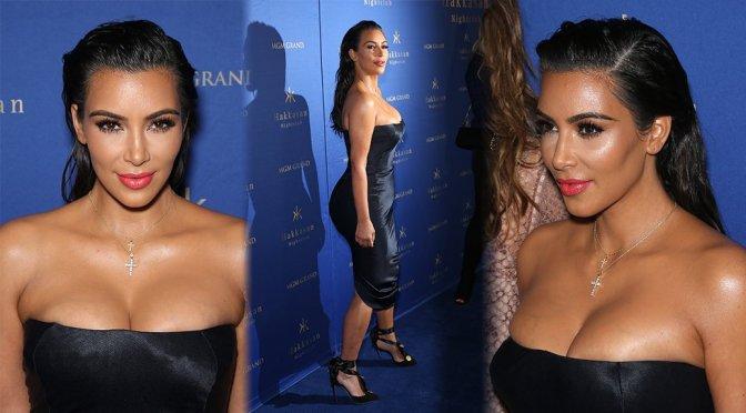 Kim Kardashian at Hakkasan Nightclub in Las Vegas