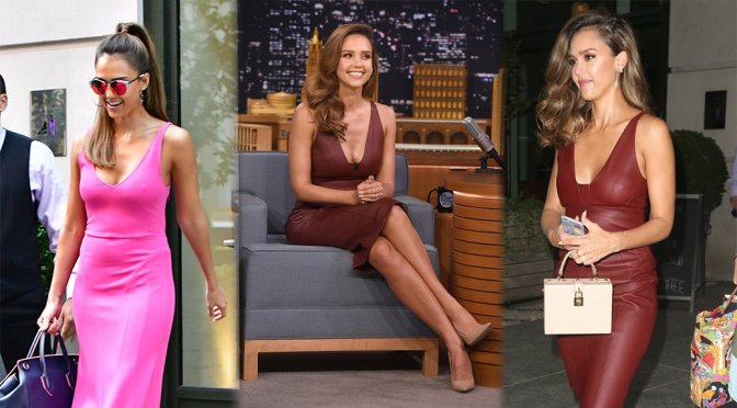 "Jessica Alba on ""The Tonight Show"" in New York"
