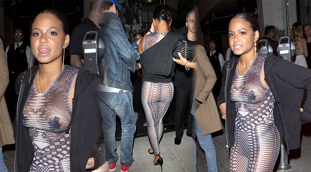 Christina Milian - See-Through Candids in West Hollywood