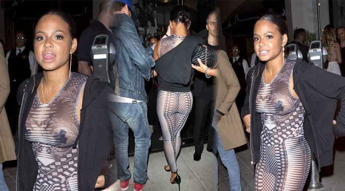 Christina Milian – See-Through Candids in West Hollywood