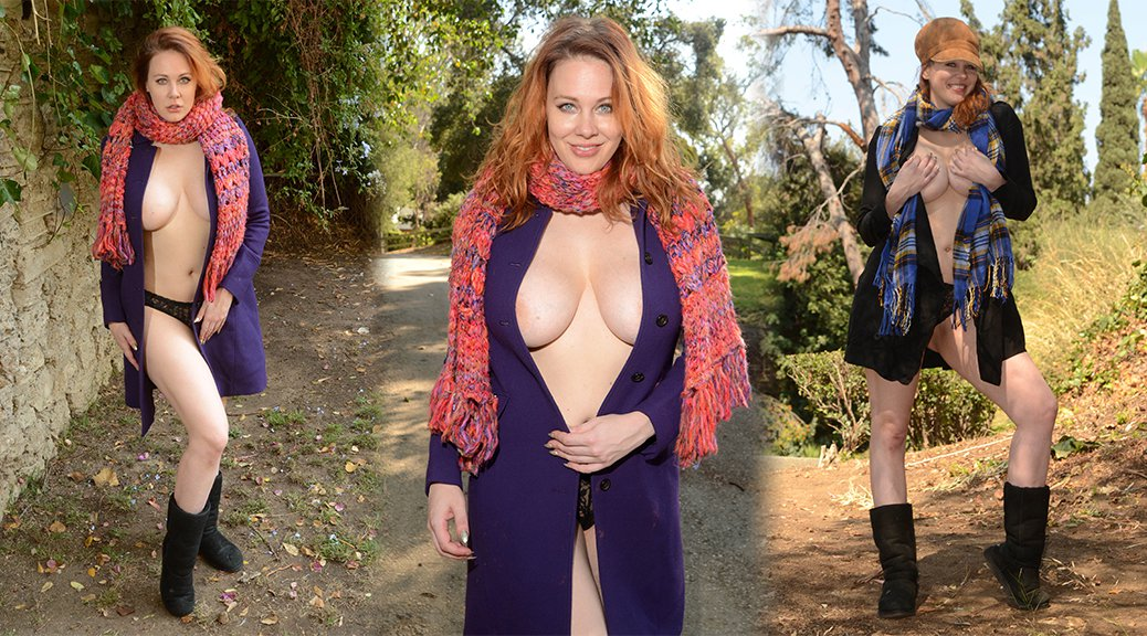 Maitland Ward - Braless Photoshoot in Los Angeles