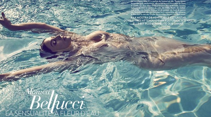 Monica Bellucci Topless in Paris Match Magazine (September 2016)