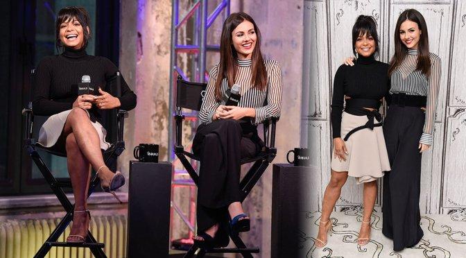 Christina Milian & Victoria Justice at AOL in New York