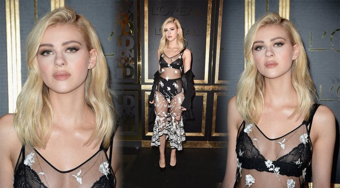 Nicola Peltz – Gold Obsession Party in Paris