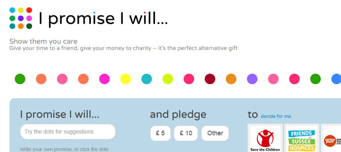 I Promise I Will : Charity Web Design