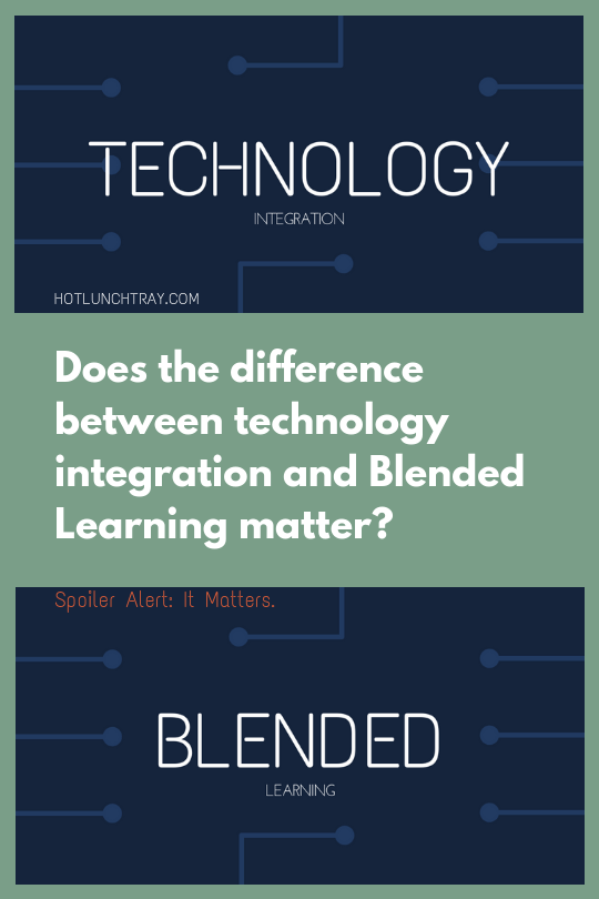 difference between technology 积分 and 混合式学习