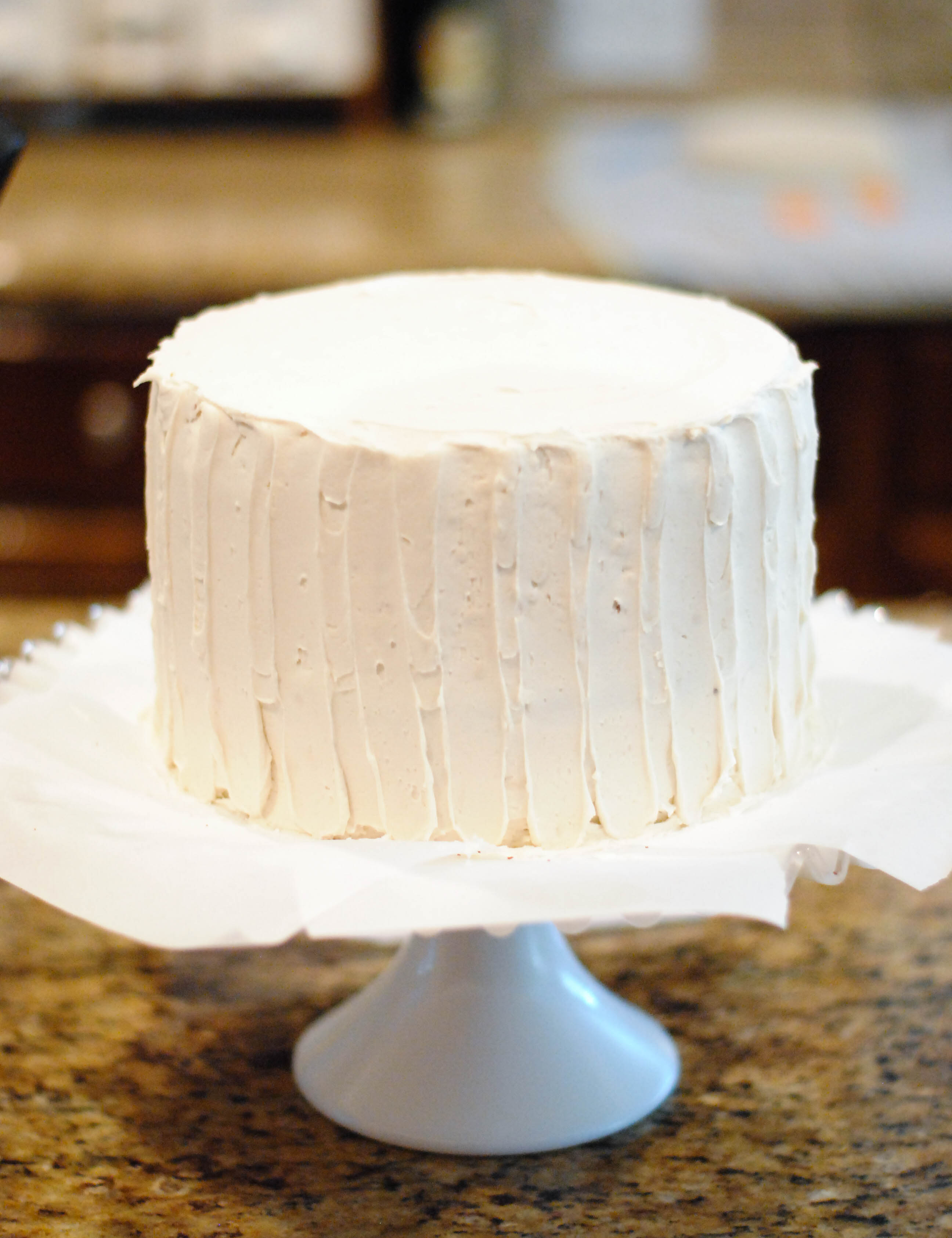Place The Cake In The Fridge Until You Re Ready To Cut In To It These Kinds Of Cakes Cut More Cleanly When Cold Stick Some Candles In And Celebrate