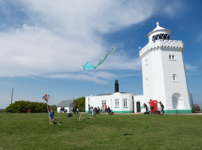Kites at lighthouse