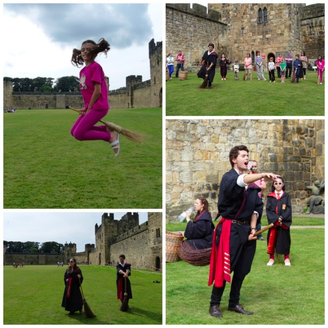 Brooms flying Alnwick Collage
