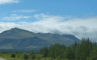 Approaching Ben Nevis range