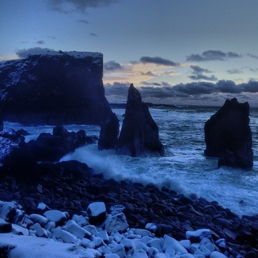 Icelandic coast in December