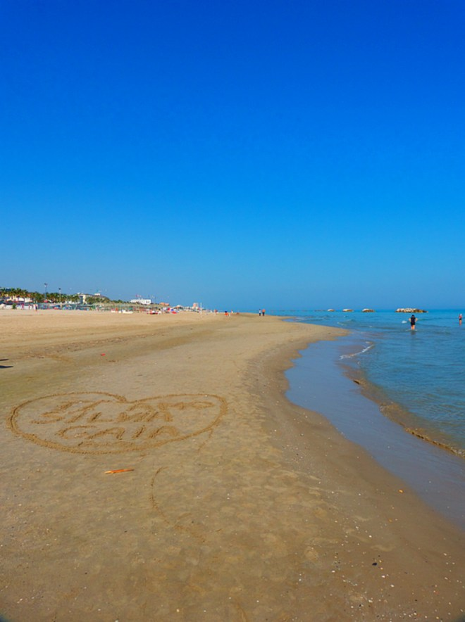 Endless sandy beach in Porto San Giorgio in Marche