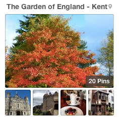 The Garden of England - Kent pinboard
