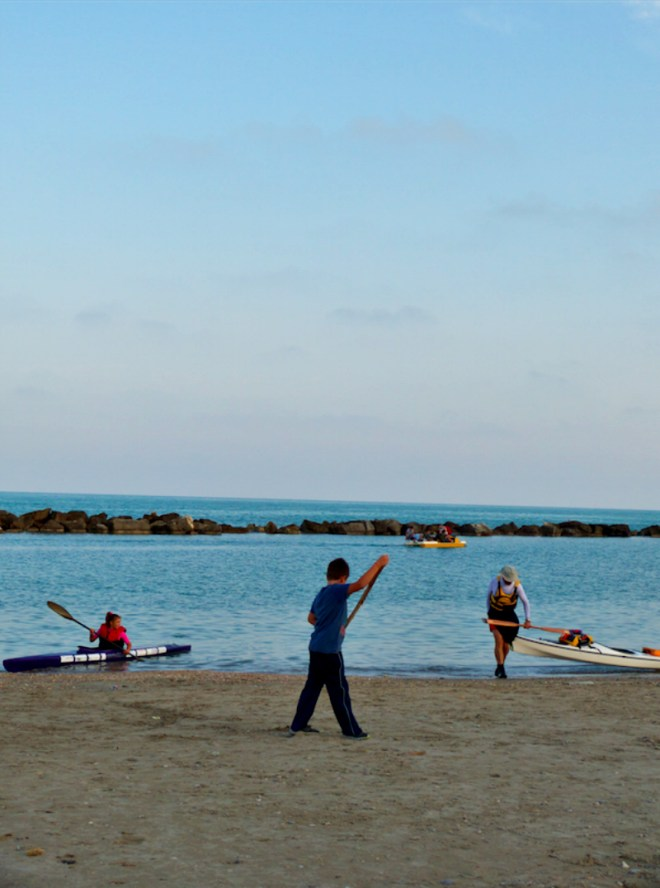 Sea kayaking in Pedaso