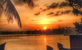 Sunset at Raviz Ashtamudi in Kollam