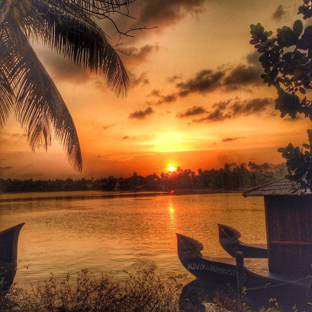 Sunset at Raviz Ashtamudi in Kollam