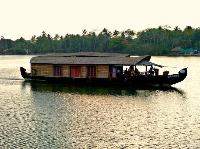 Houseboat in backwaters