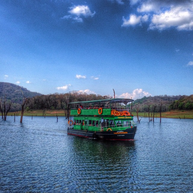 Boating in Periyar Tiger Reserve