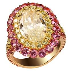 Small Crop Of Yellow Diamond Rings
